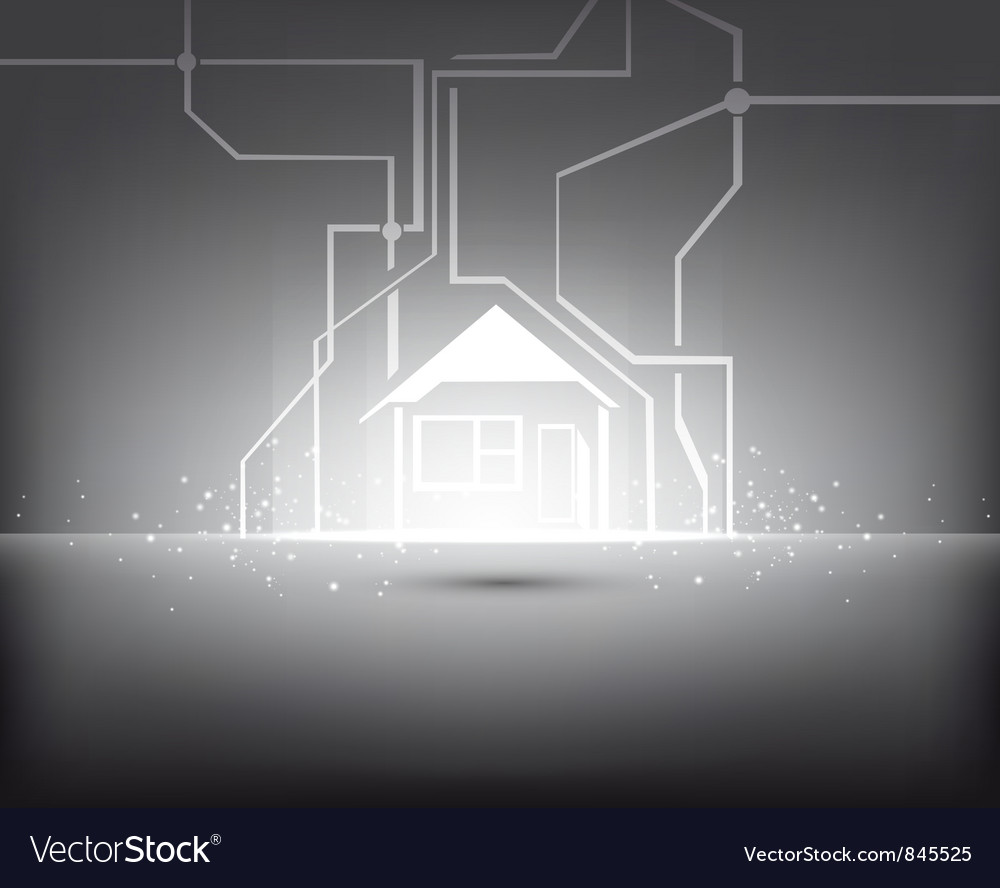 Home illuminated vector | Price: 1 Credit (USD $1)