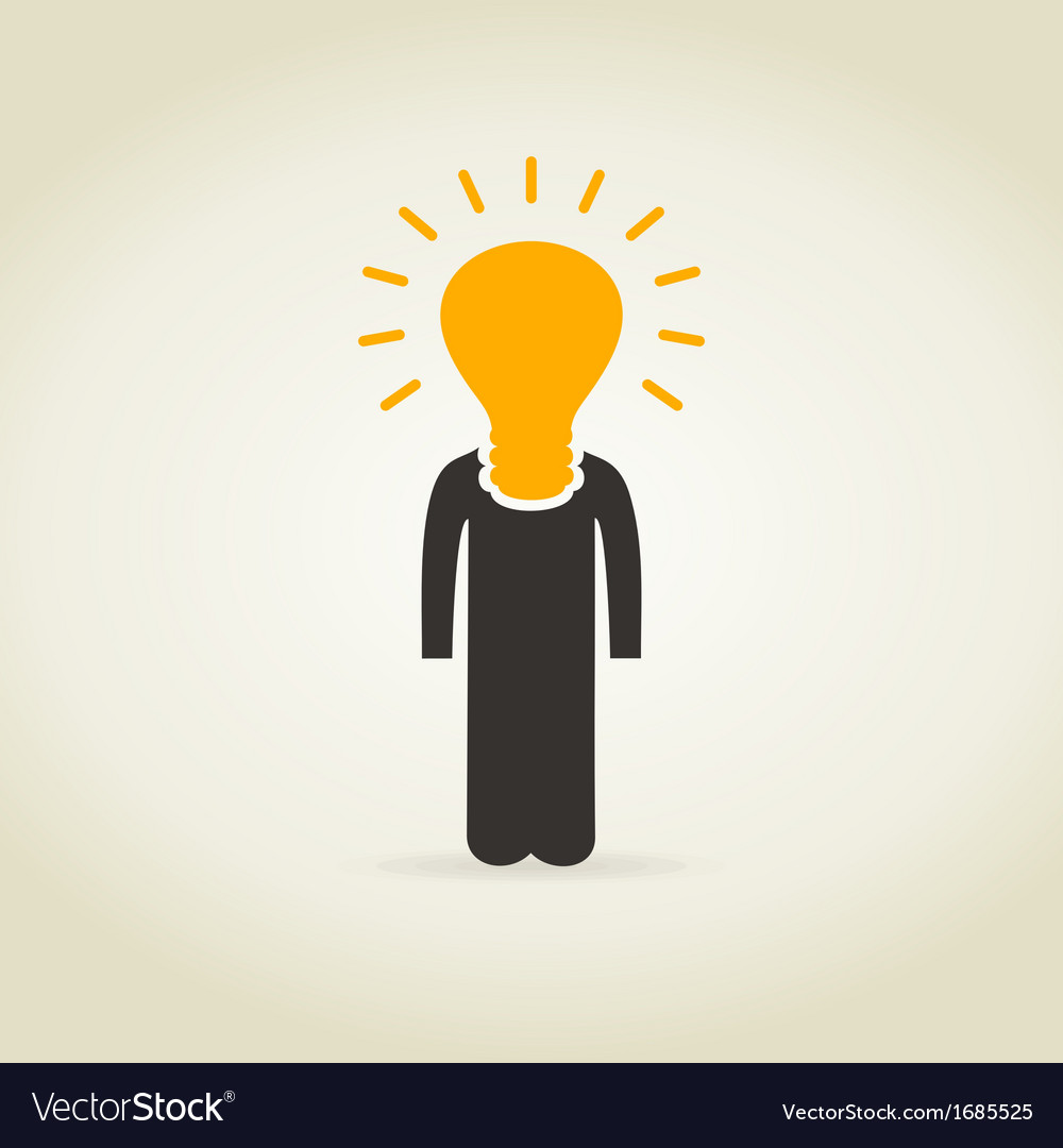 Person a bulb vector | Price: 1 Credit (USD $1)