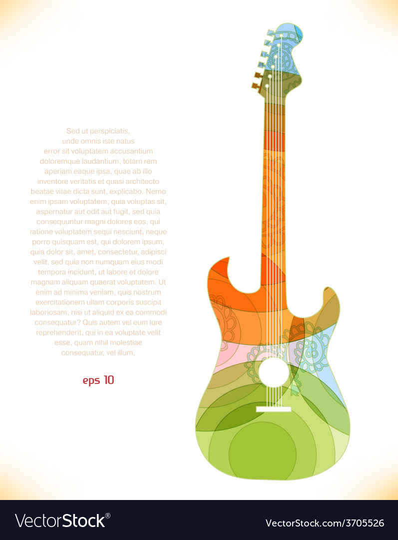 Abstract guitar design vector | Price: 1 Credit (USD $1)