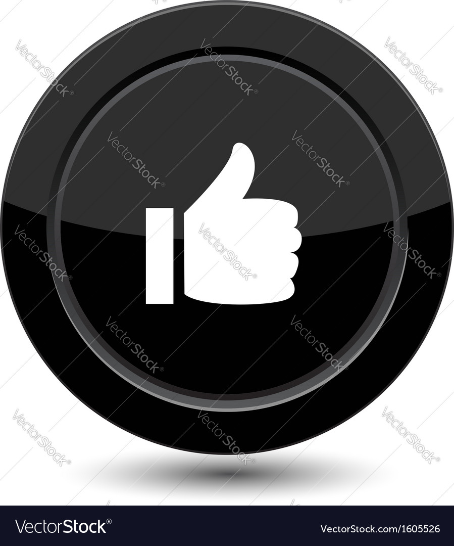 Button with yes sign vector | Price: 1 Credit (USD $1)
