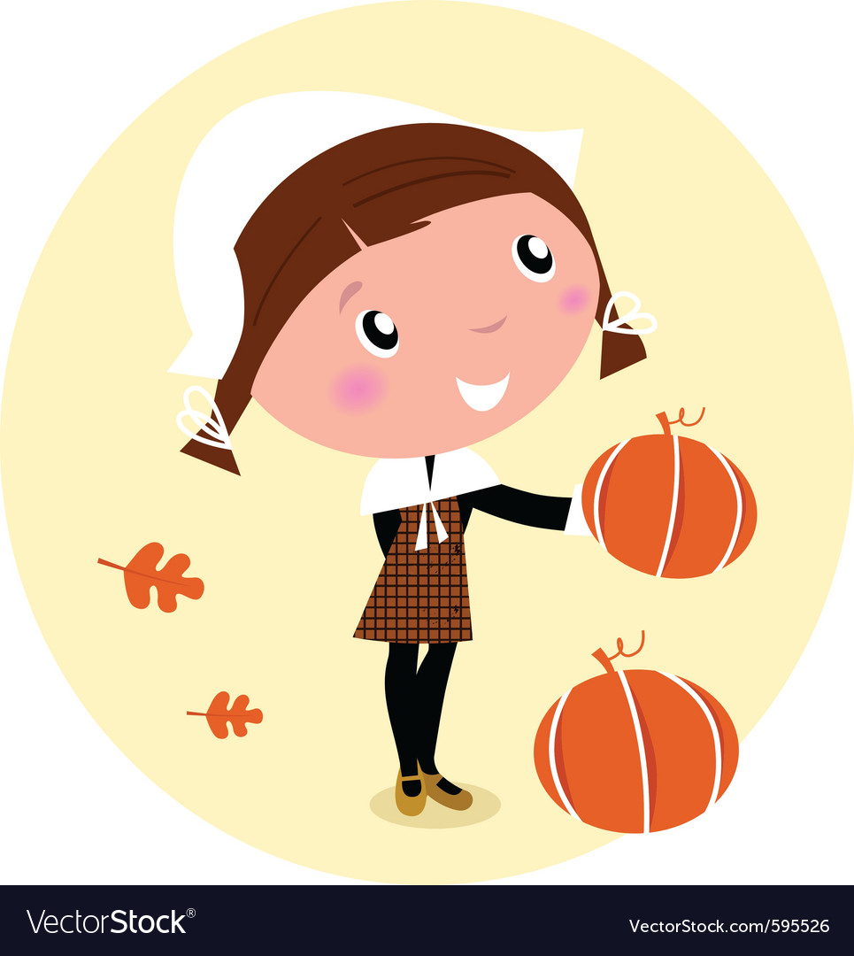 Cartoon pilgrim child vector | Price: 1 Credit (USD $1)