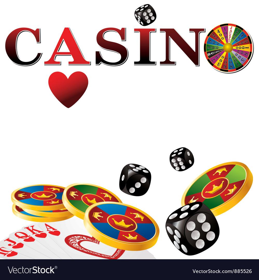 Casino white vector | Price: 1 Credit (USD $1)
