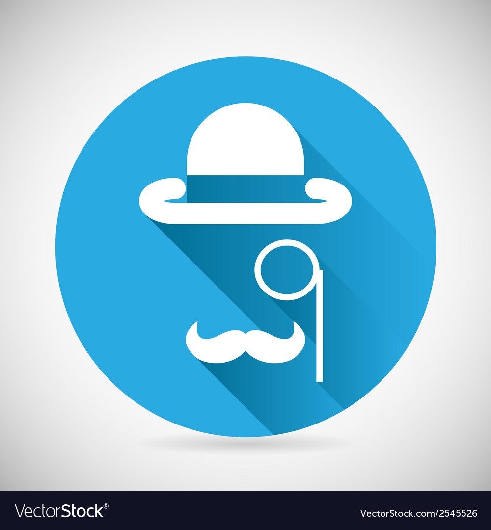 Gentleman accessories symbol bowler hat monocle vector | Price: 1 Credit (USD $1)