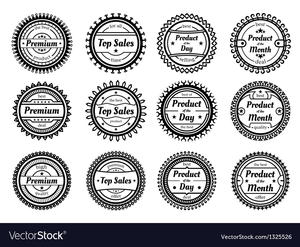 High quality round labels vector | Price: 1 Credit (USD $1)