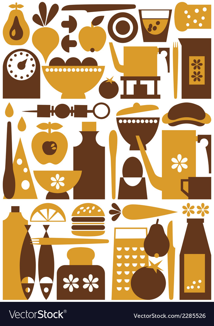 Kitchen 1 seamless vector | Price: 1 Credit (USD $1)