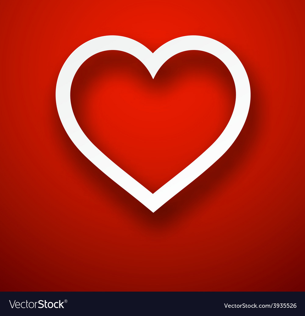 Paper heart over red vector | Price: 1 Credit (USD $1)