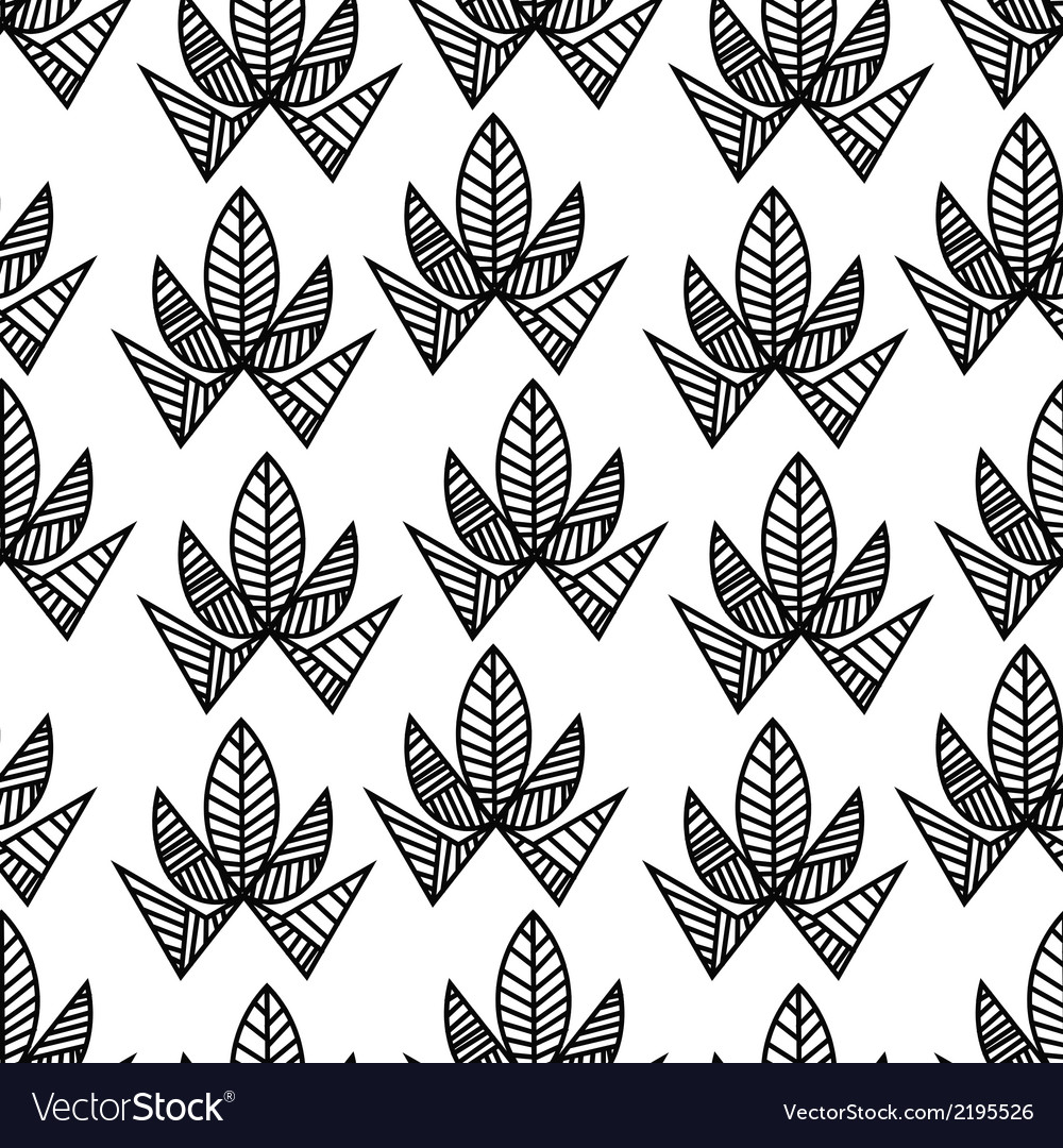 Seamless pattern with abstract flowers vector | Price: 1 Credit (USD $1)