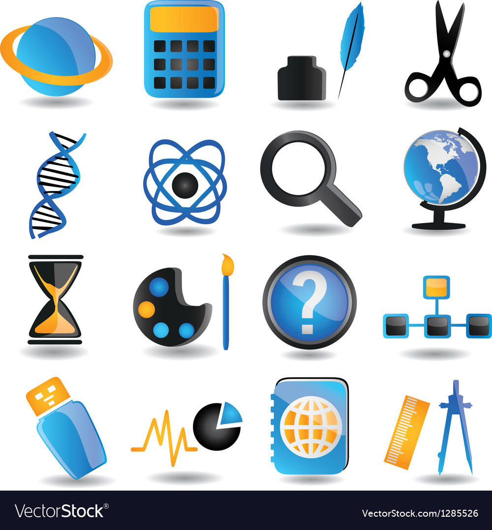Set of education icons - part 2 vector   Price: 1 Credit (USD $1)