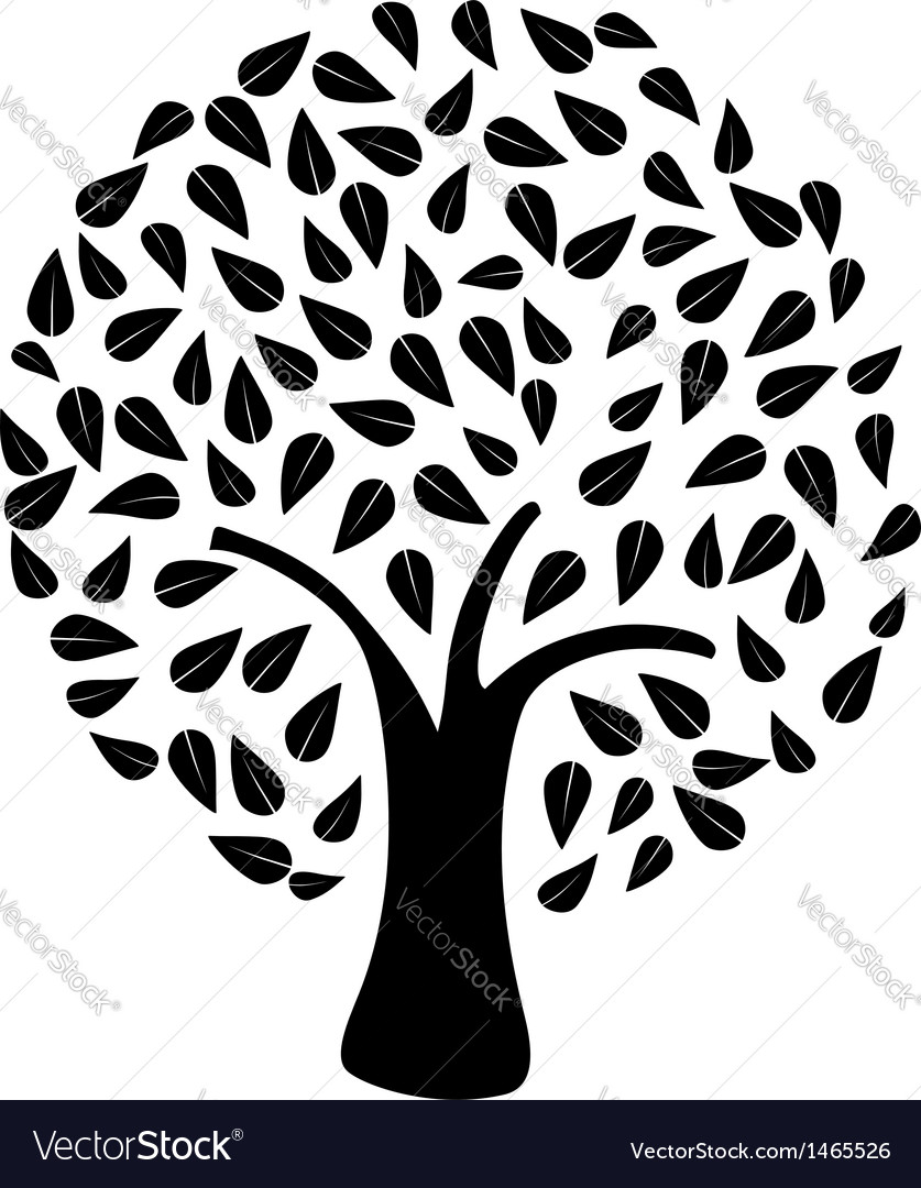 Tree silhouette isolated vector | Price: 1 Credit (USD $1)