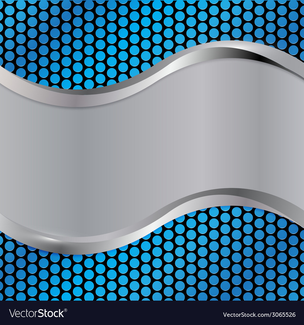 Wave silver blue vector | Price: 1 Credit (USD $1)