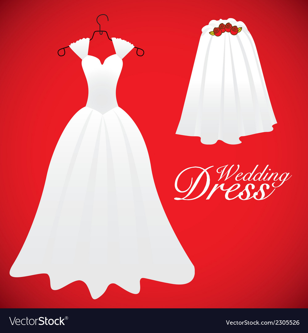 Wedding card wedding gowns vector | Price: 1 Credit (USD $1)