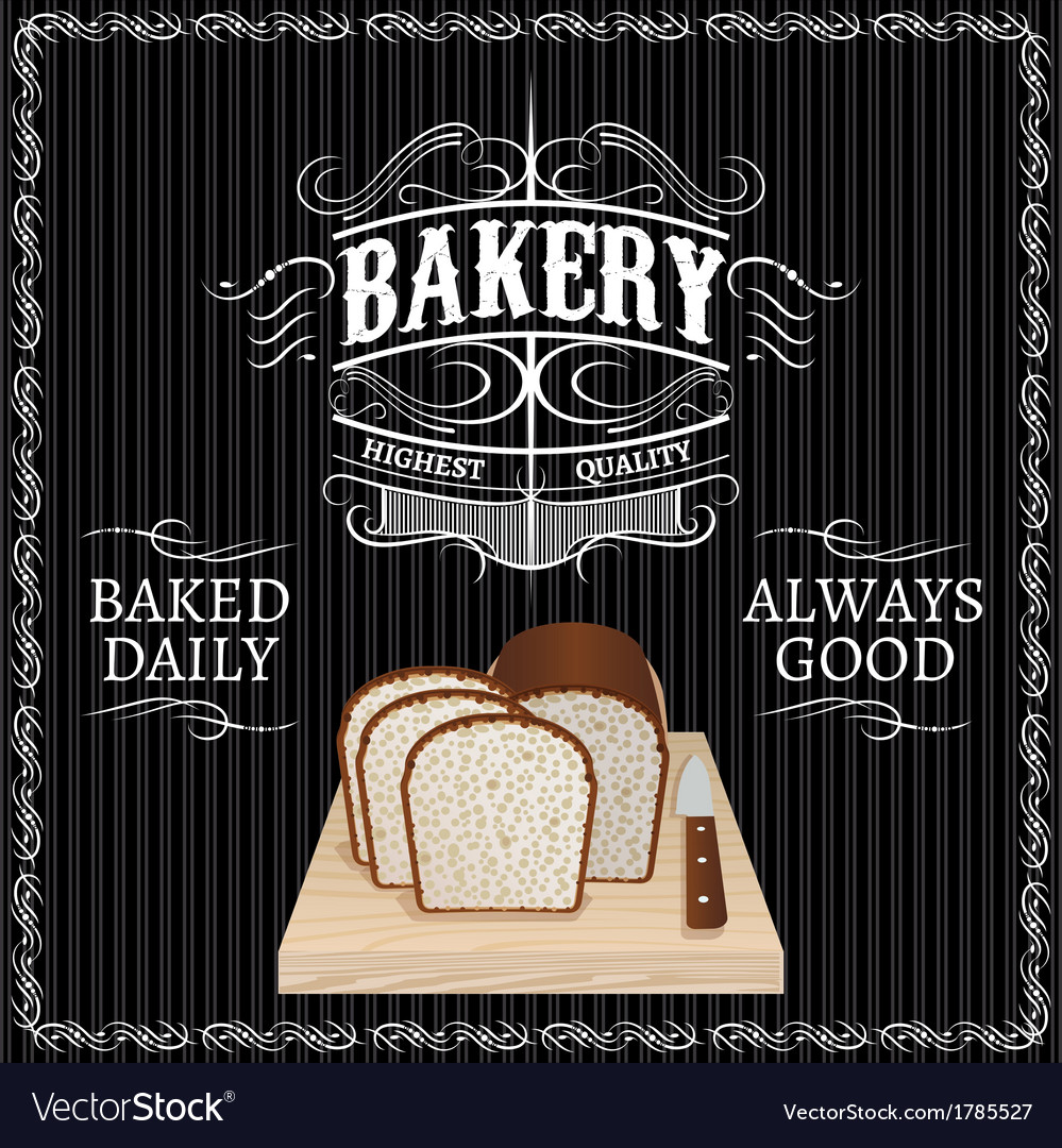 Background with bread for a bakery vector | Price: 1 Credit (USD $1)