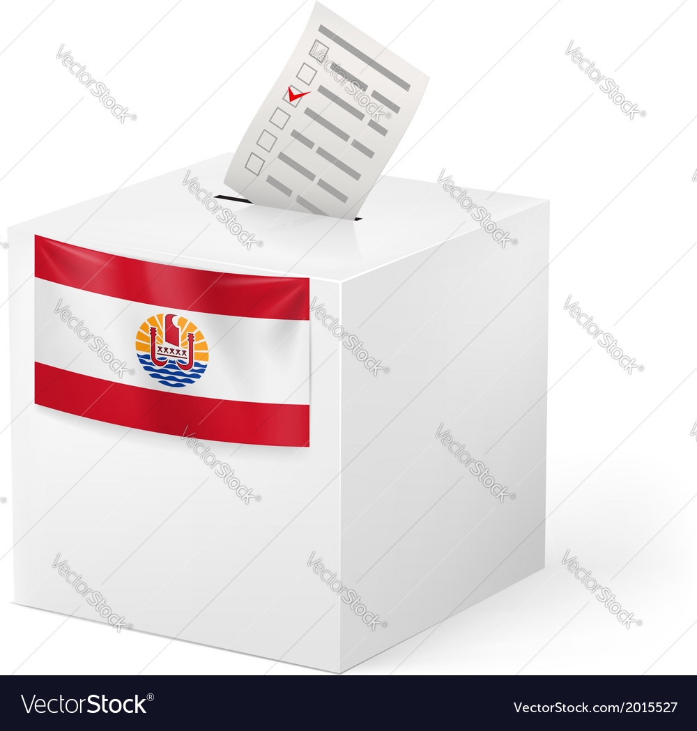 Ballot box with voting paper french polynesia vector | Price: 1 Credit (USD $1)