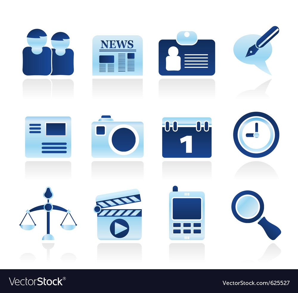 Computer and business icons vector | Price: 1 Credit (USD $1)