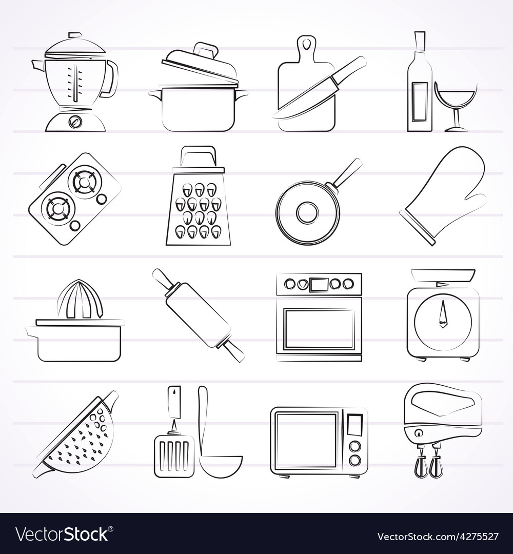 Cooking tools icons vector | Price: 1 Credit (USD $1)