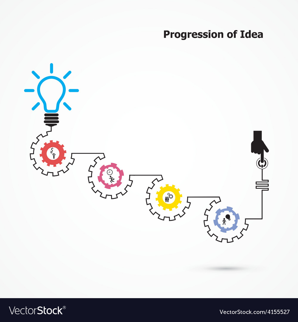 Creative light bulb symbol with linear of gear vector   Price: 1 Credit (USD $1)