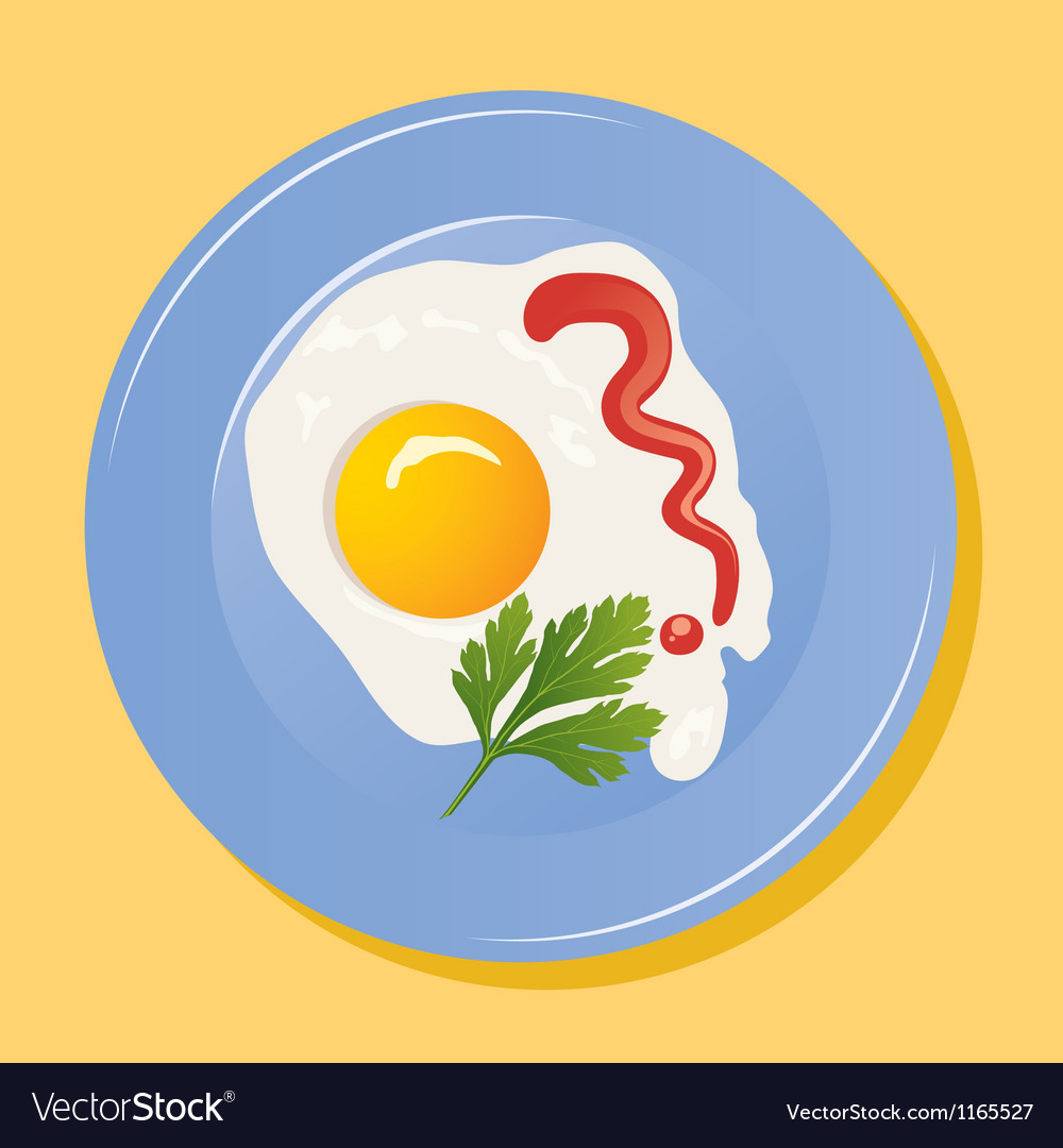 Fried egg vector | Price: 3 Credit (USD $3)
