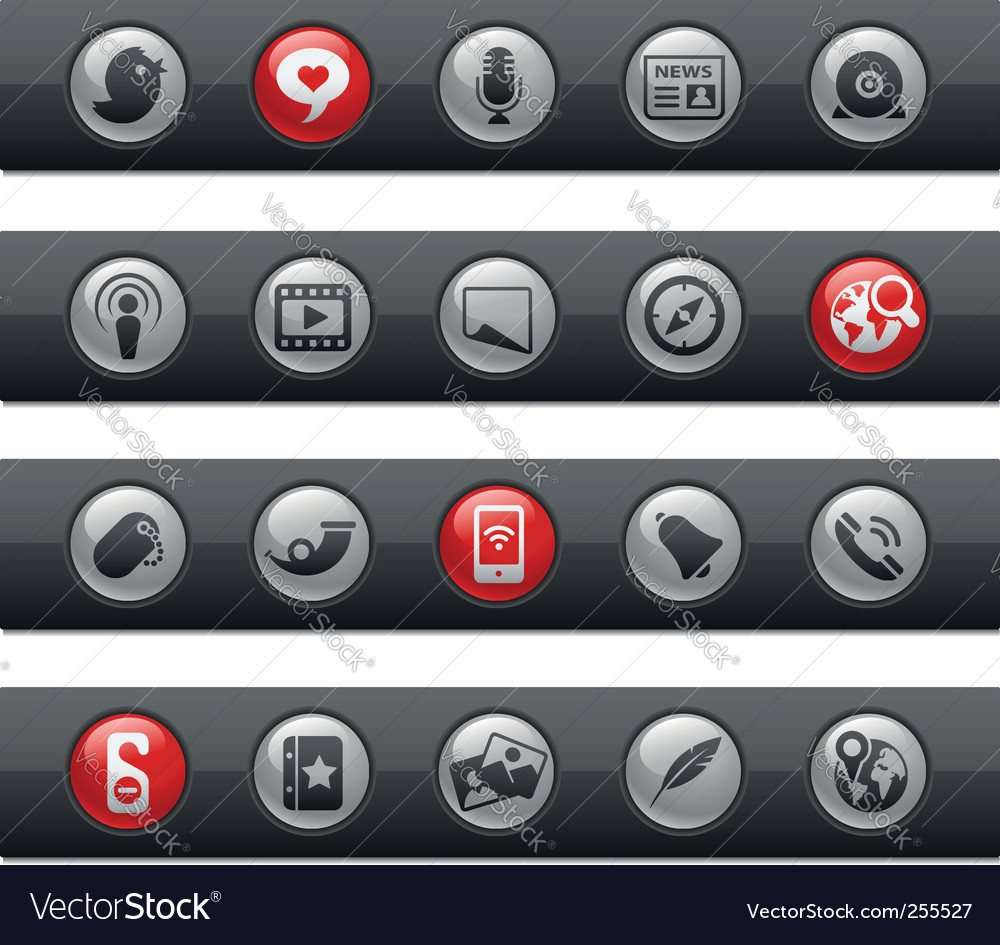 Social media bars vector | Price: 1 Credit (USD $1)