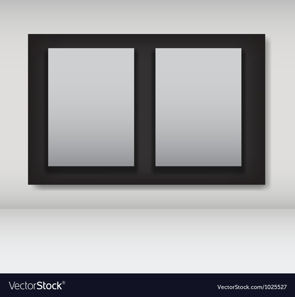 White frames in art gallery ector vector   Price: 1 Credit (USD $1)
