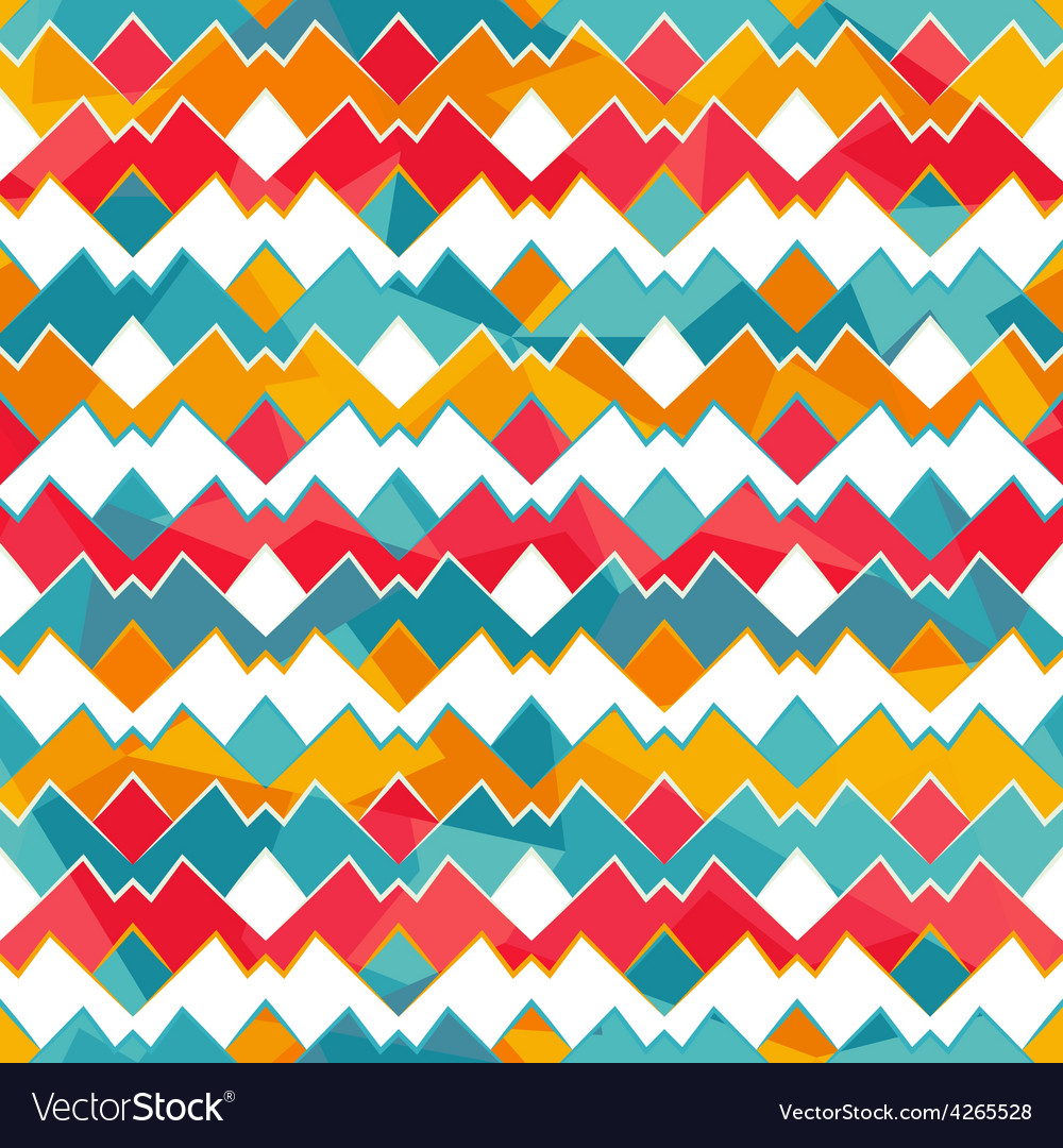 Colored zigzag seamless pattern vector | Price: 1 Credit (USD $1)