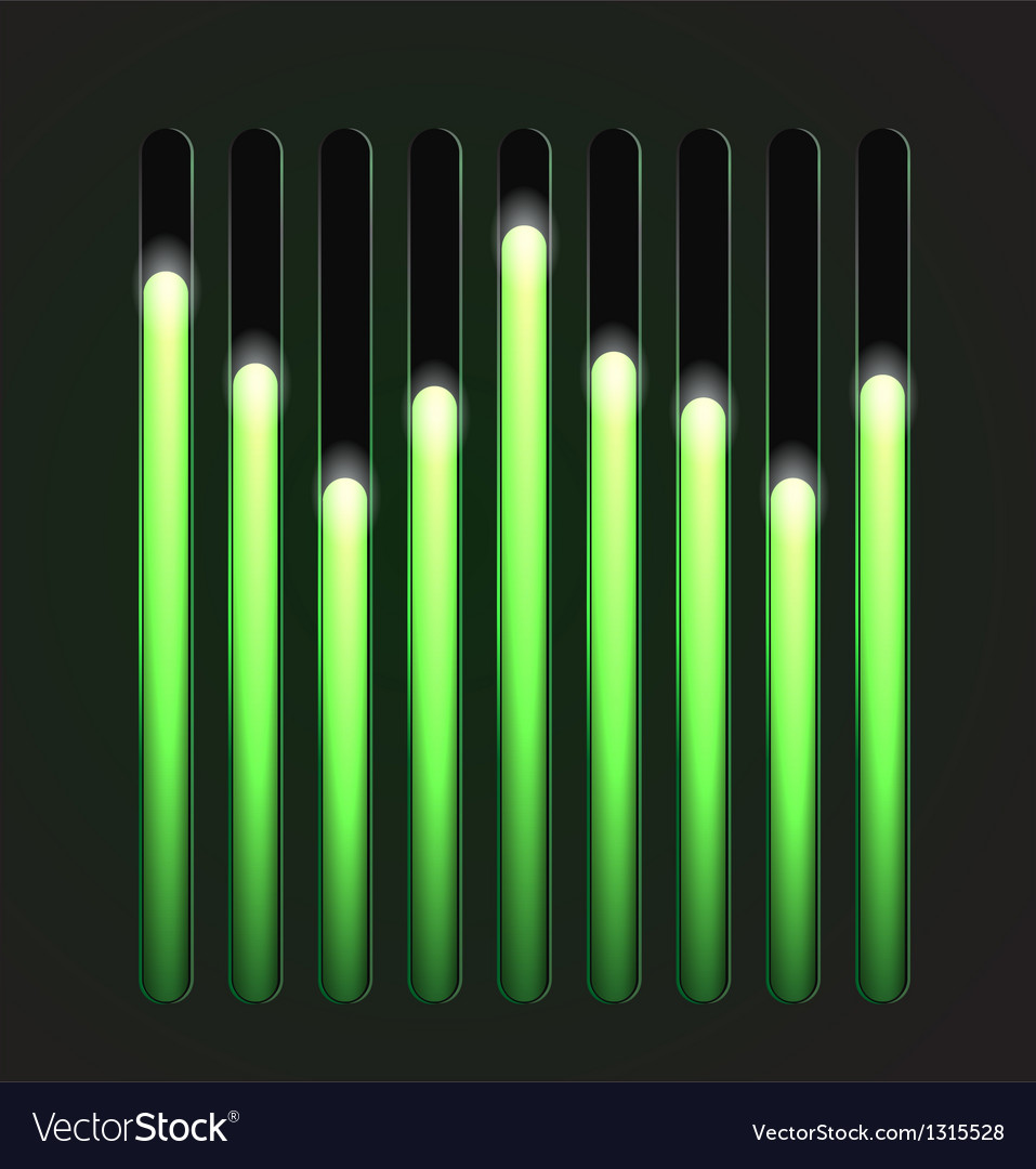 Equalizer glossy glowing track bar vector | Price: 3 Credit (USD $3)