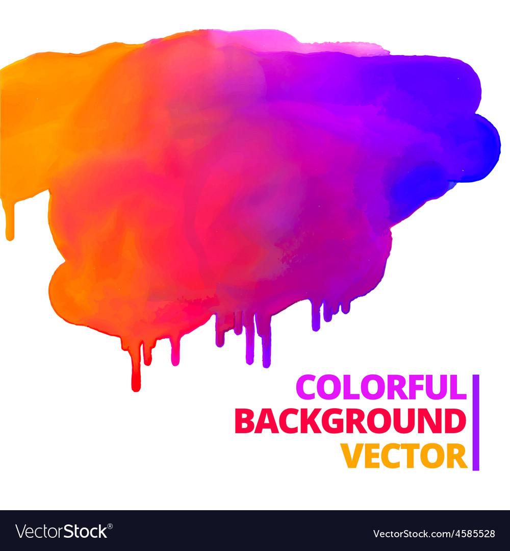 Flow of paint colors ink splash design vector   Price: 1 Credit (USD $1)