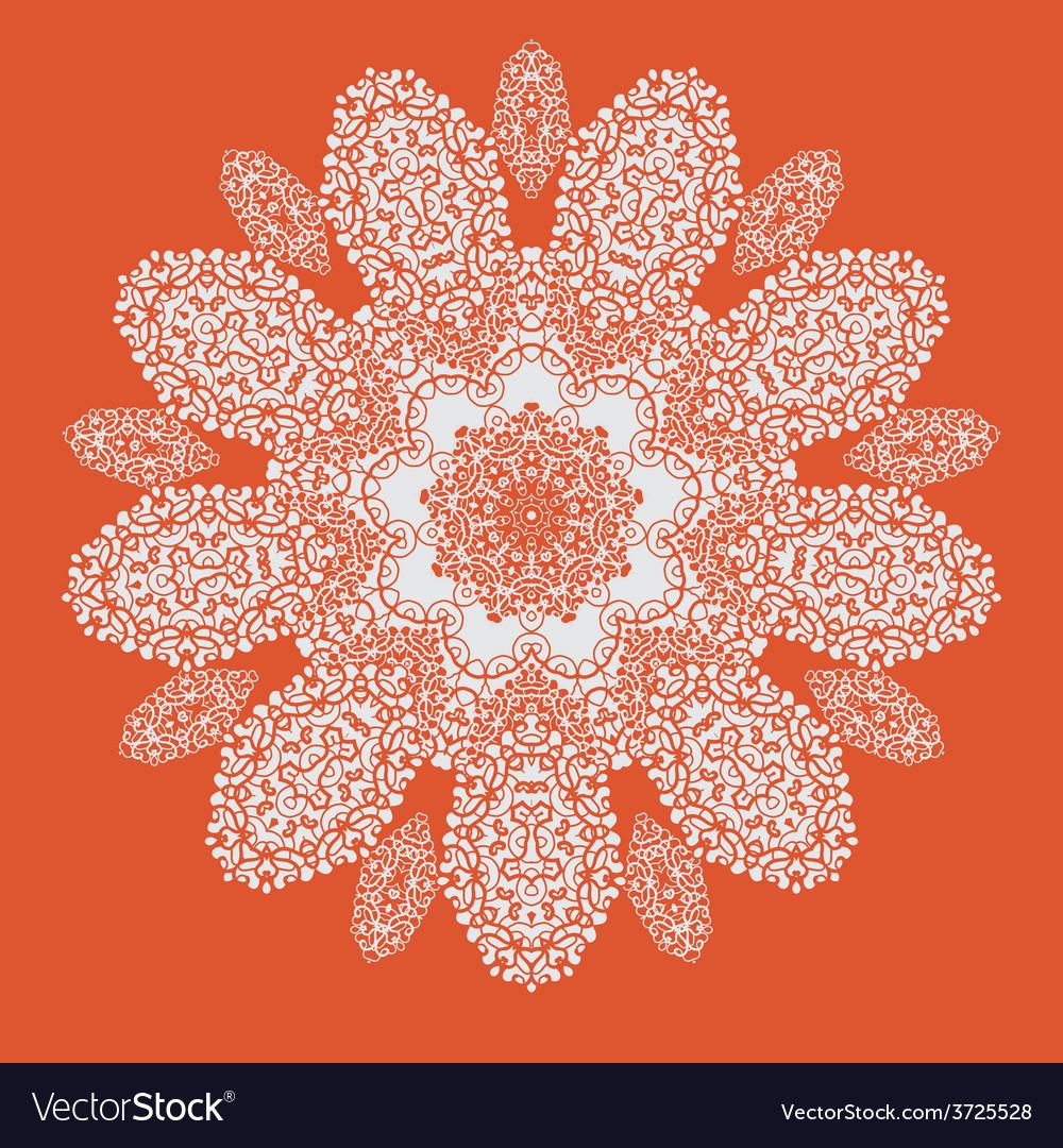 Hand drawn mandala on orange background all vector | Price: 1 Credit (USD $1)