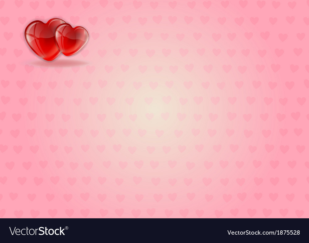 Heart background pink ii vector | Price: 1 Credit (USD $1)
