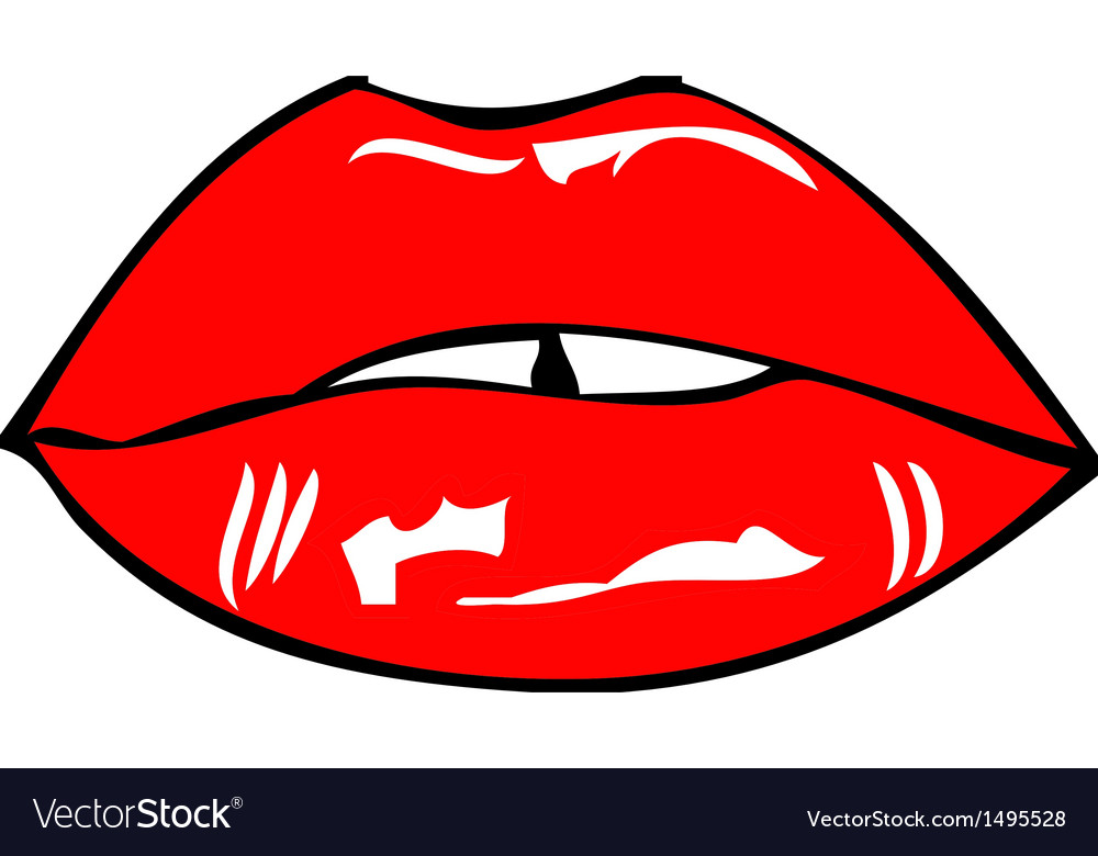 Mouth and lips vector | Price: 1 Credit (USD $1)