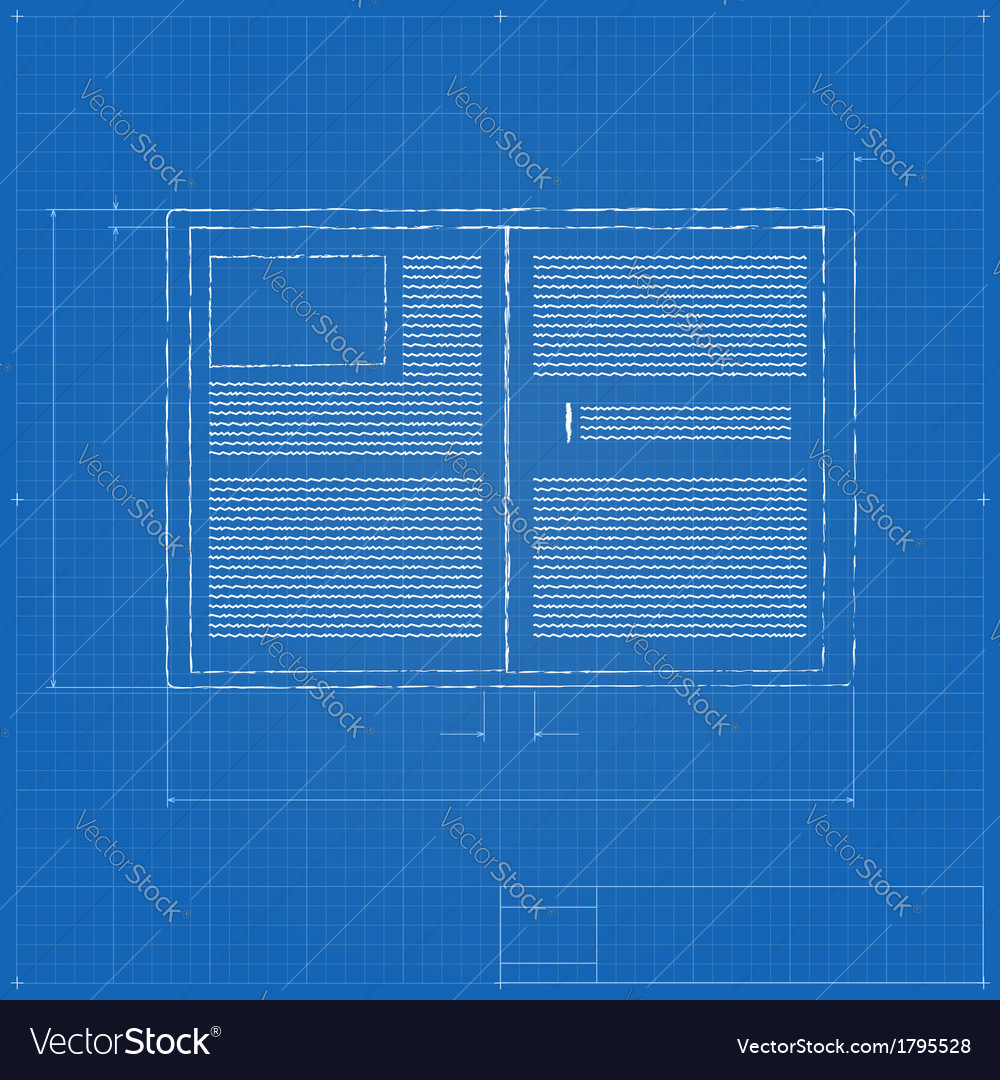 Opened notebook stylized drawing vector   Price: 1 Credit (USD $1)