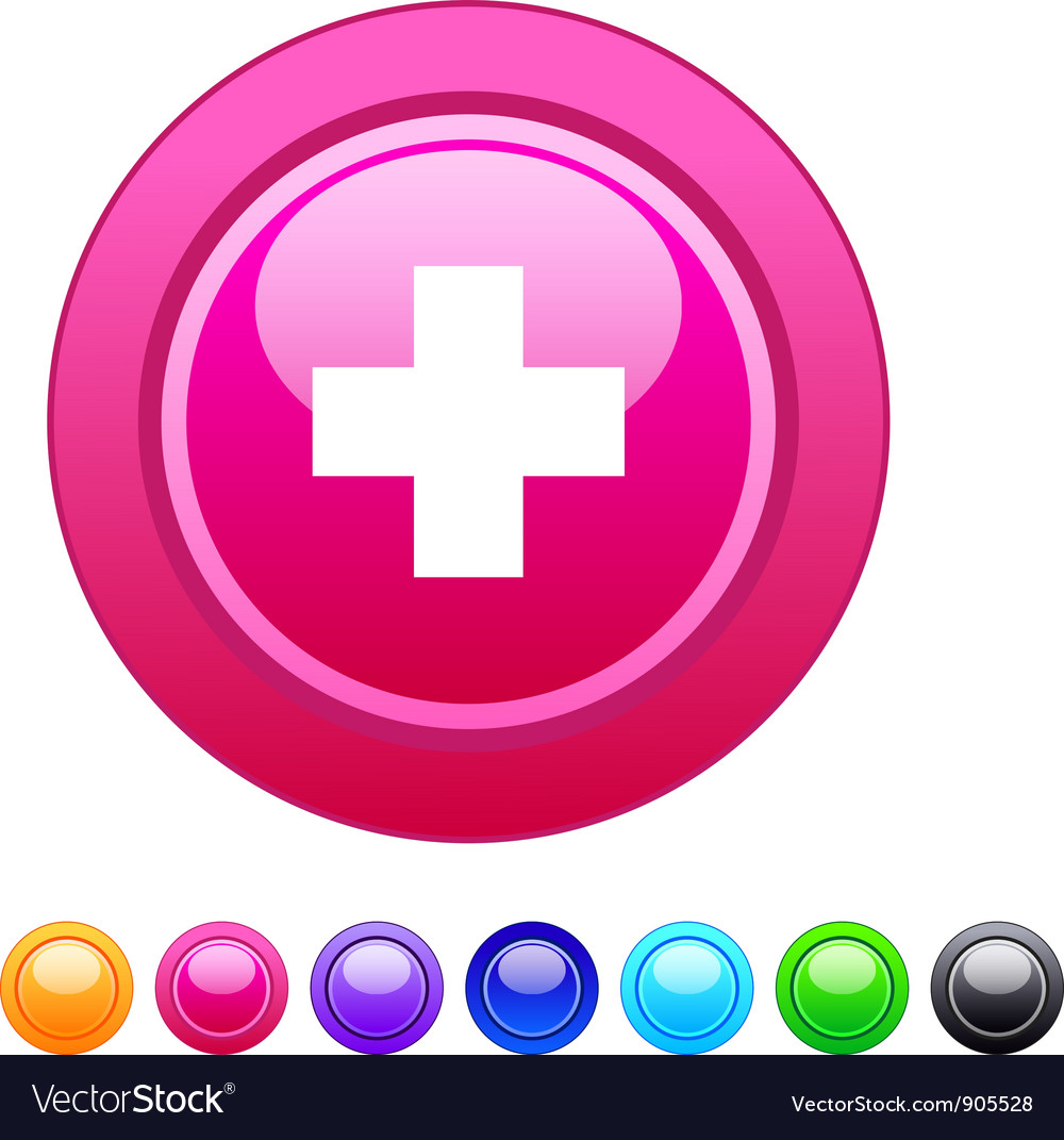 Plus circle button vector | Price: 1 Credit (USD $1)