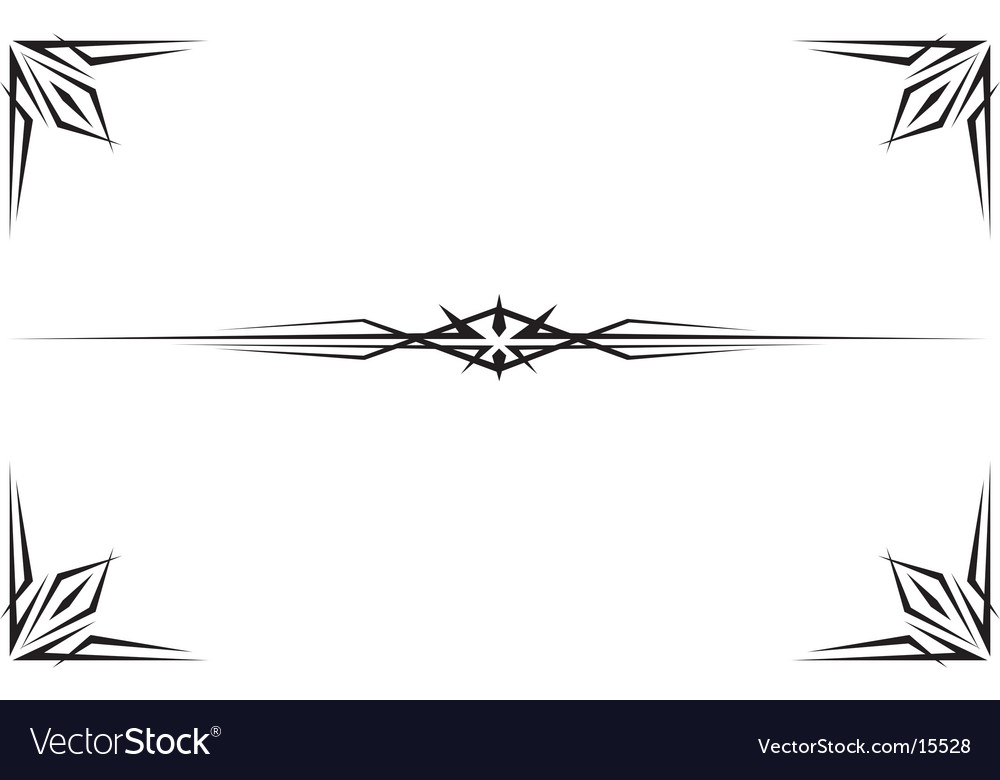 Tribal border and banner vector | Price: 1 Credit (USD $1)