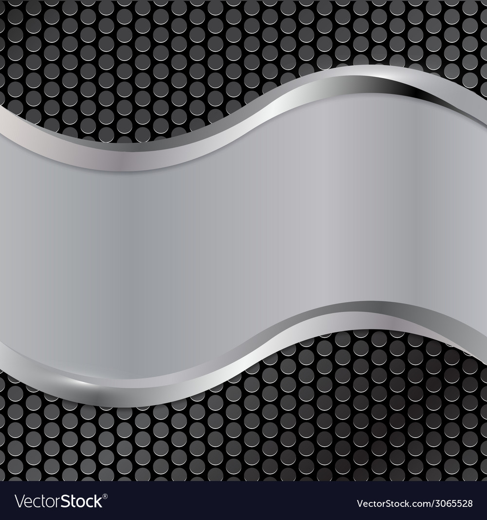 Wave silver black vector | Price: 1 Credit (USD $1)