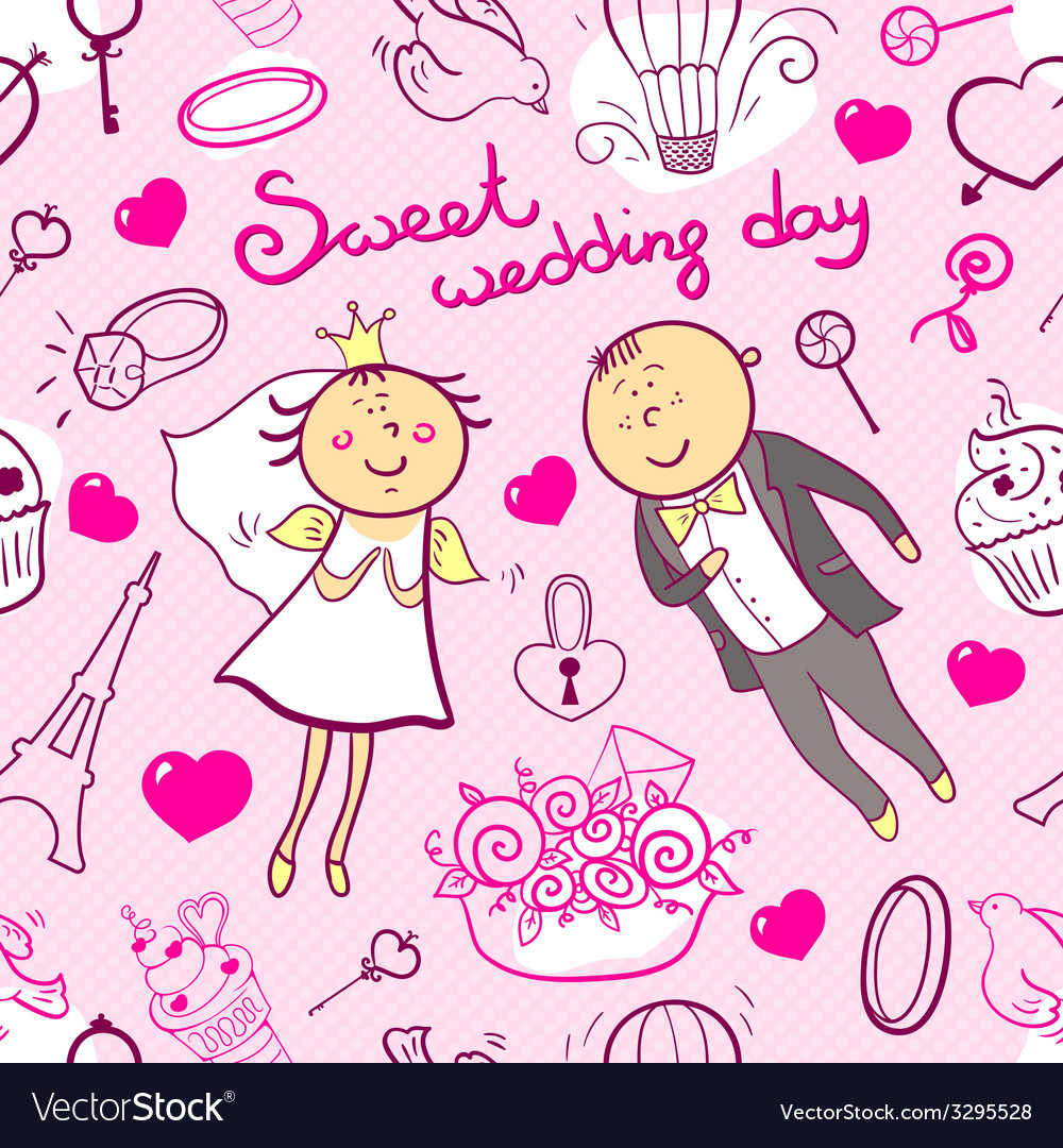 Wedding seamless patteen vector | Price: 1 Credit (USD $1)