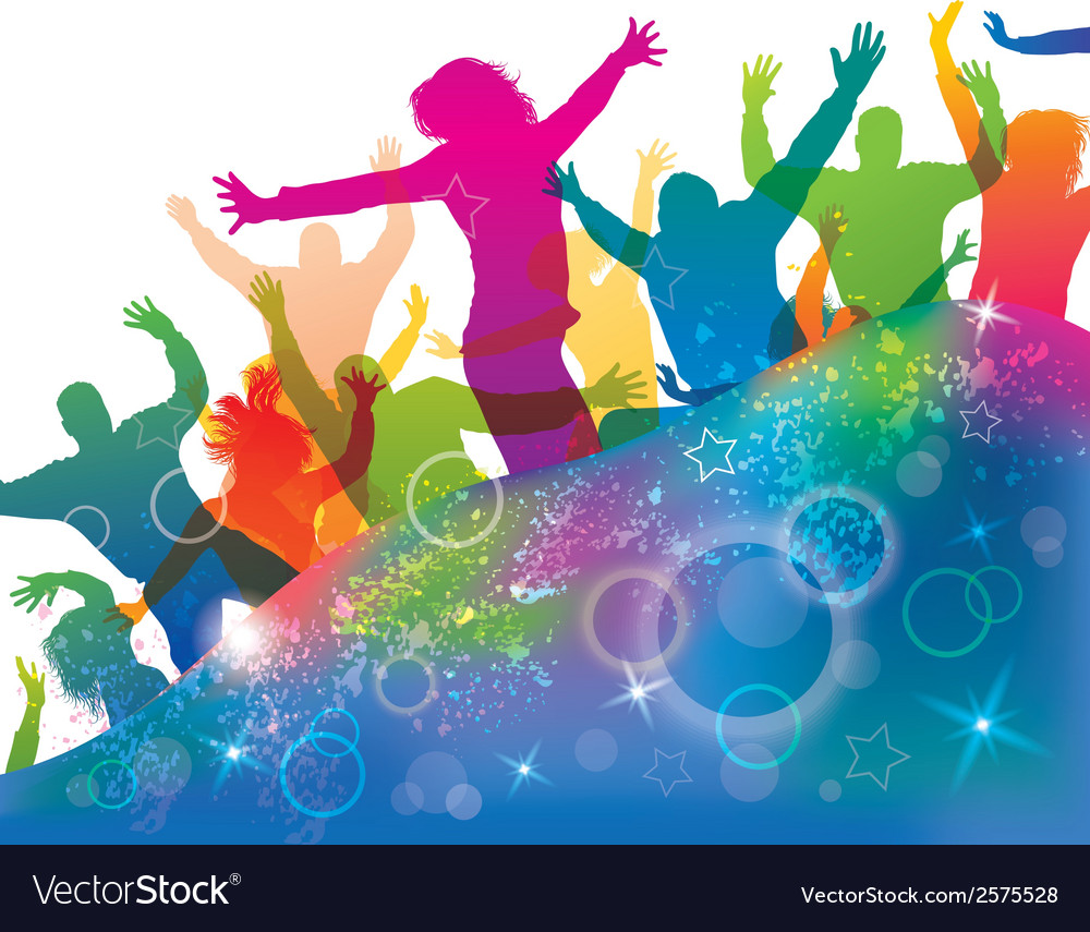 Young dancing people vector | Price: 1 Credit (USD $1)