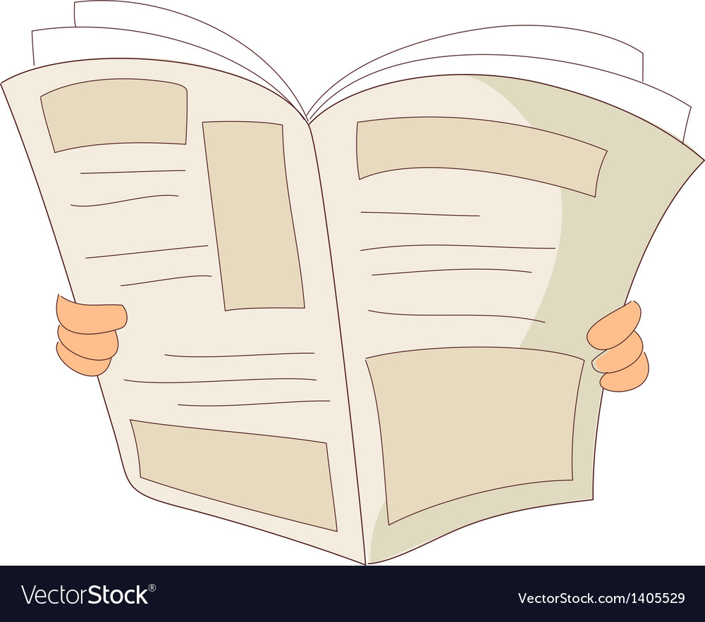 A reading news paper vector | Price: 1 Credit (USD $1)