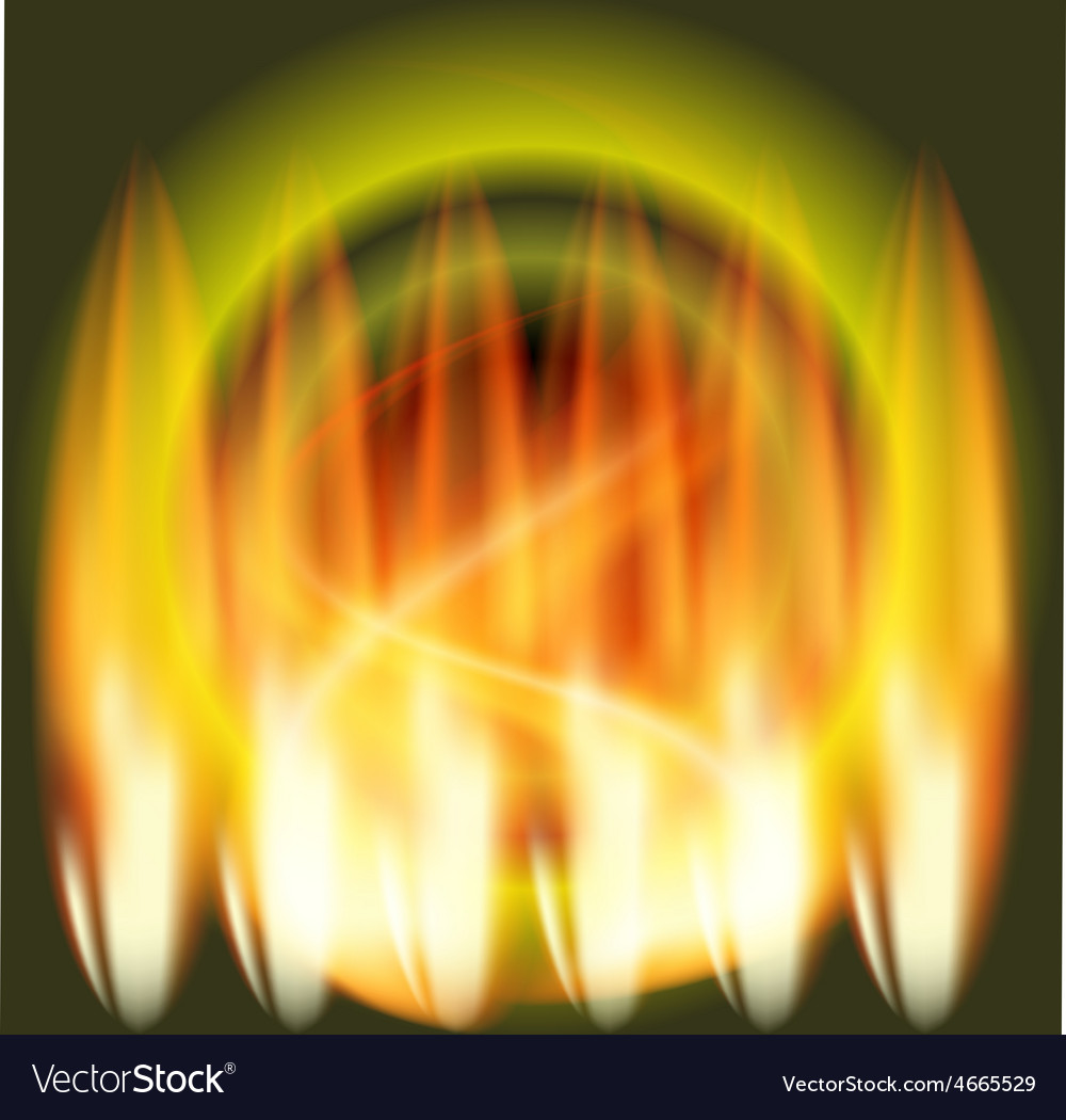 Abstract fire flames green background vector | Price: 1 Credit (USD $1)