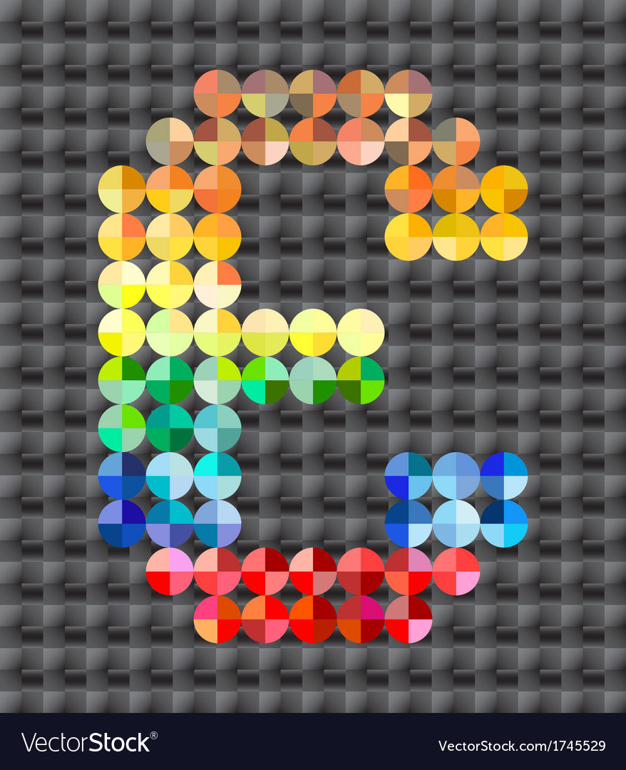 Alphabet of colorful mosaic vector   Price: 1 Credit (USD $1)