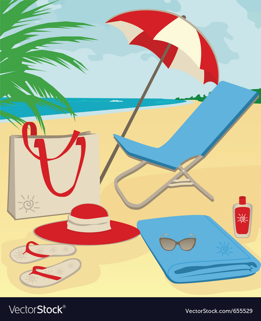 Beach holiday vector | Price: 1 Credit (USD $1)