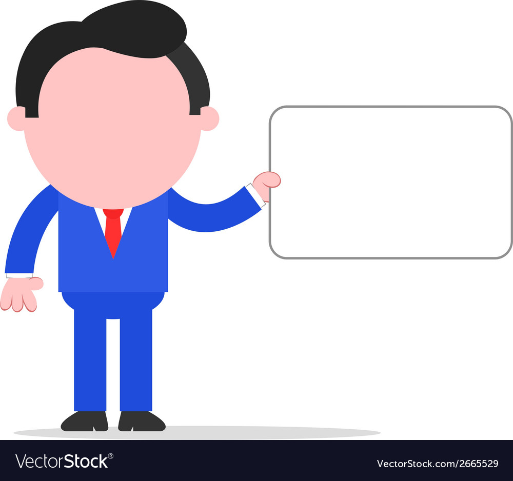 Businessman holding sign vector | Price: 1 Credit (USD $1)