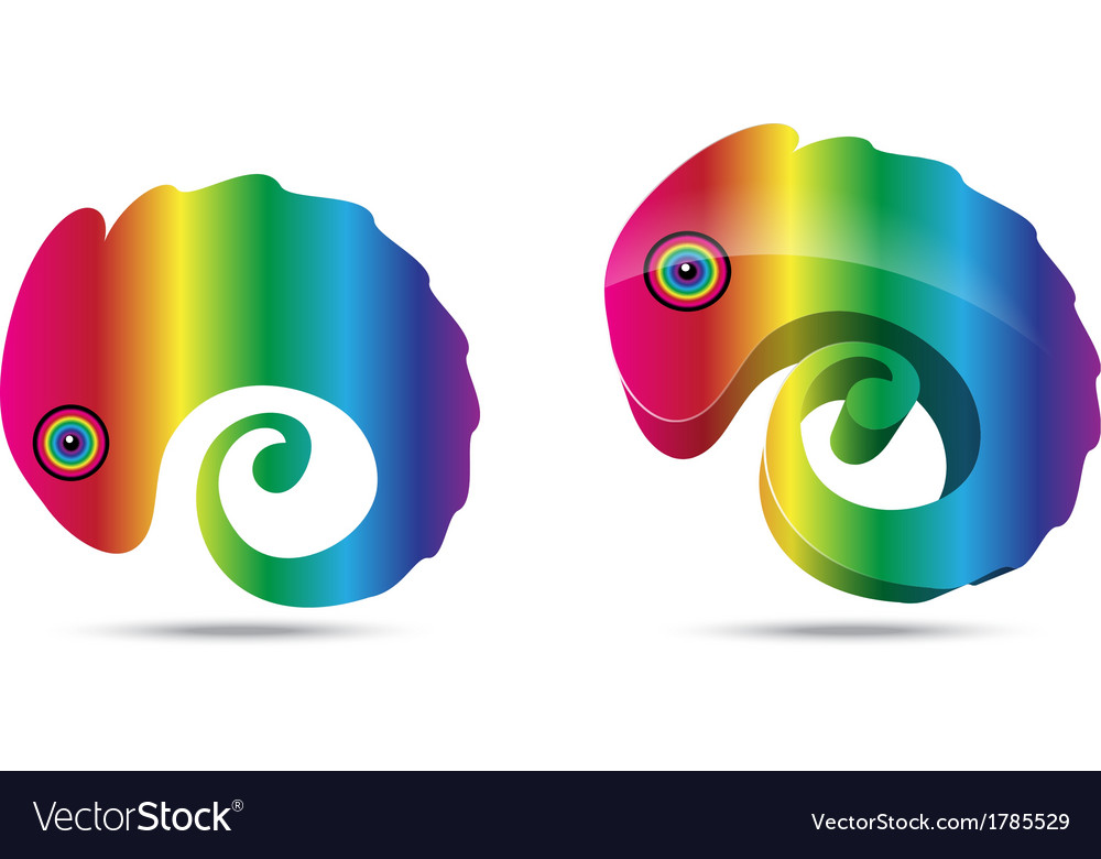 Chameleon business logo vector | Price: 1 Credit (USD $1)