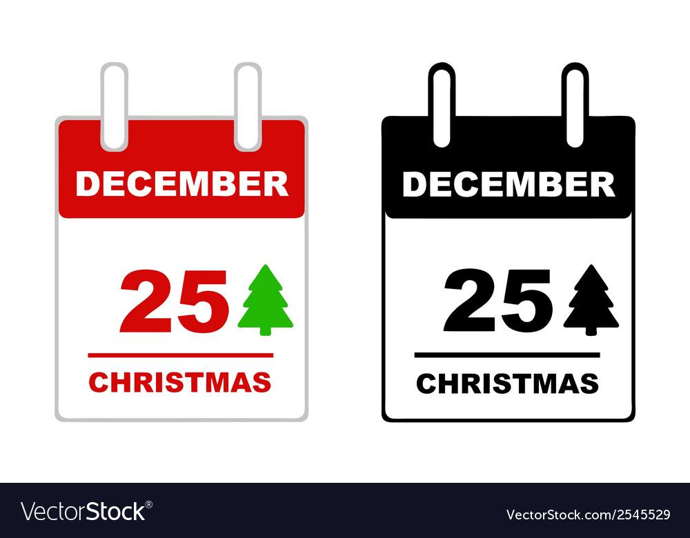 Christmas calendar vector | Price: 1 Credit (USD $1)