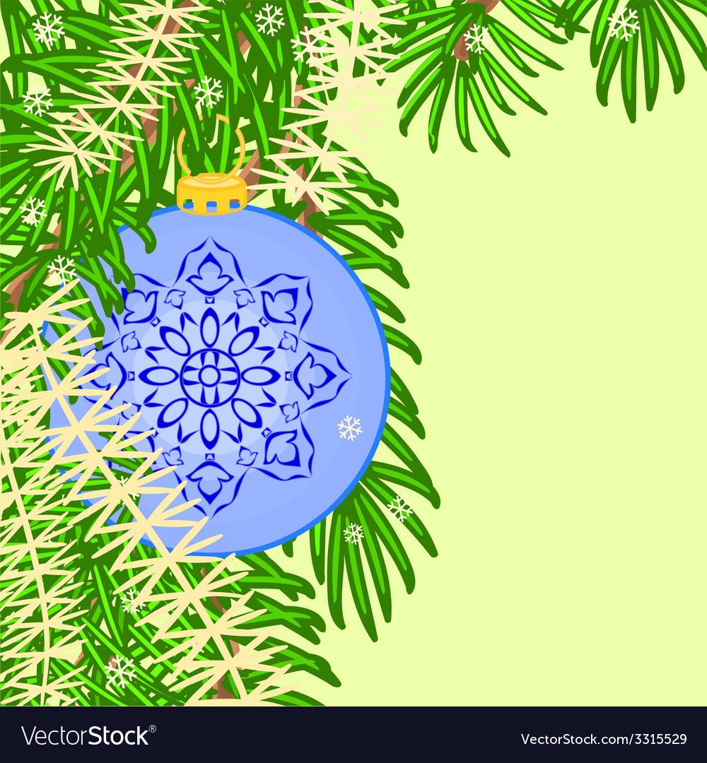 Christmas decoration vintage blue baubles vector | Price: 1 Credit (USD $1)