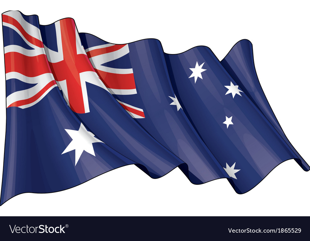 Grange flag of australia vector | Price: 1 Credit (USD $1)