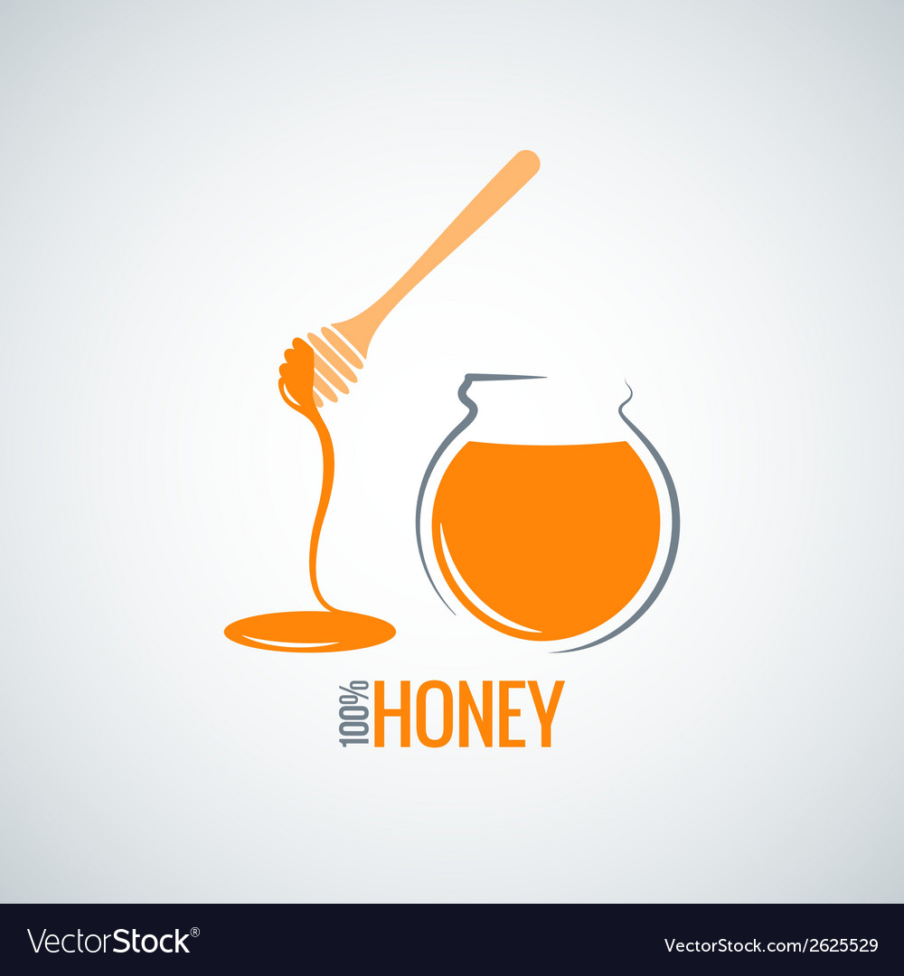 Honey jar pot glass background vector | Price: 1 Credit (USD $1)