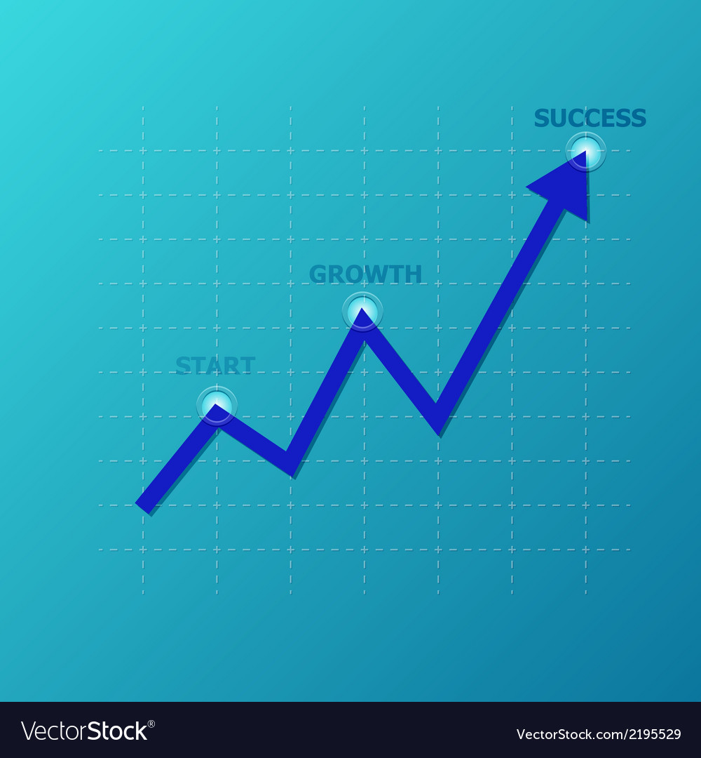 Line graph on the grid vector | Price: 1 Credit (USD $1)