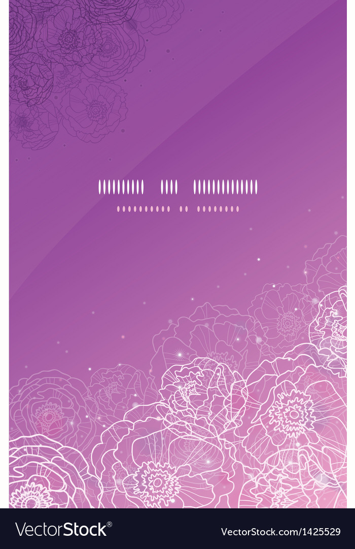 Purple glowing flowers magical vertical template vector | Price: 1 Credit (USD $1)