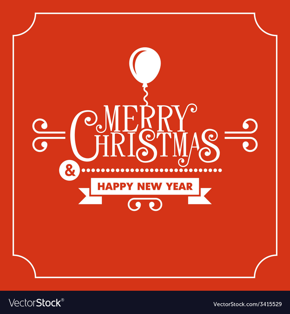 Red christmas greeting card background vector | Price: 1 Credit (USD $1)