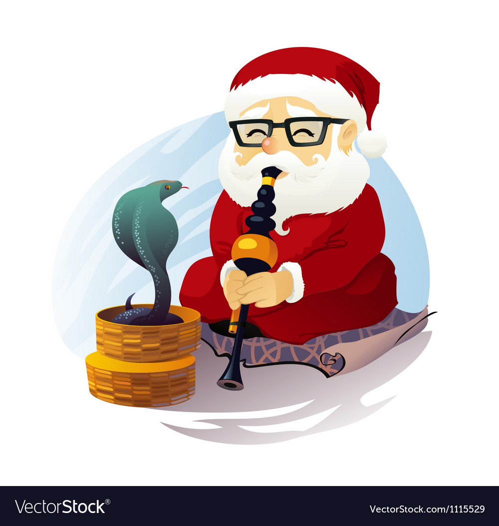 Snake charmer santa claus vector | Price: 3 Credit (USD $3)