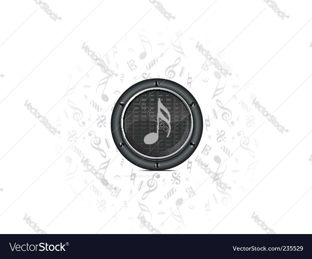 Speaker sound background vector | Price: 1 Credit (USD $1)